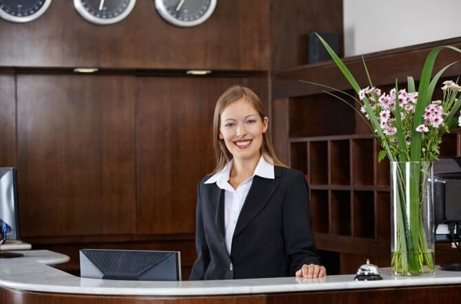 Hotel check-in desk