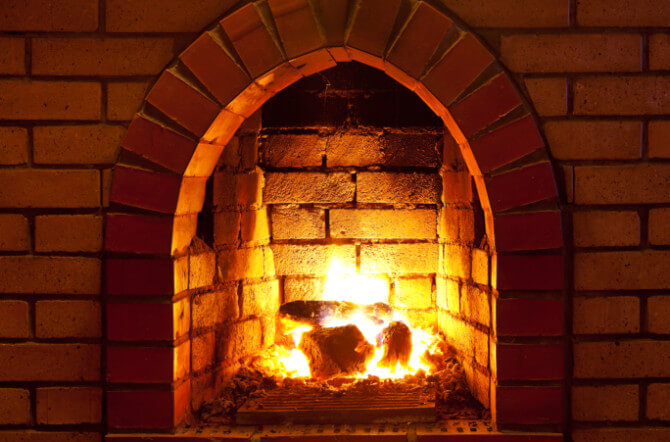 You Gotta Have Hearth - Cleaning the Brick Fireplace