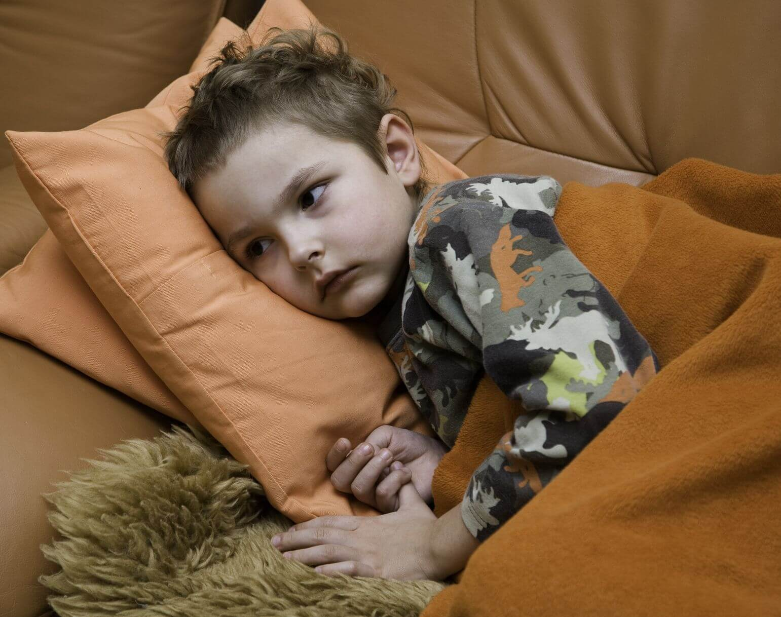 Child sick at home