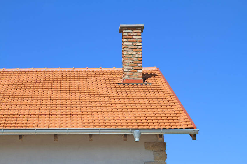 Chimney on house