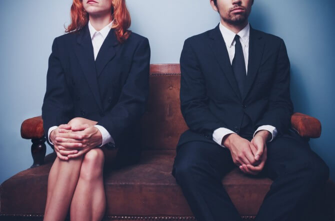 interview candidates sitting in office