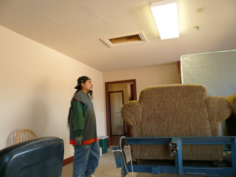 Mover with furniture