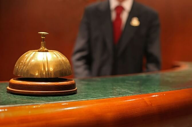 bell on concierge counter