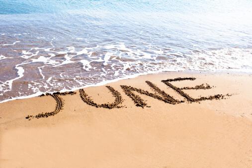 June written on Sand