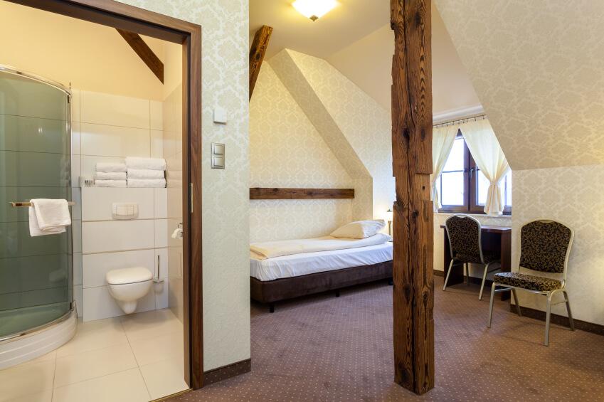 Interior of elegant room for rent, hotel