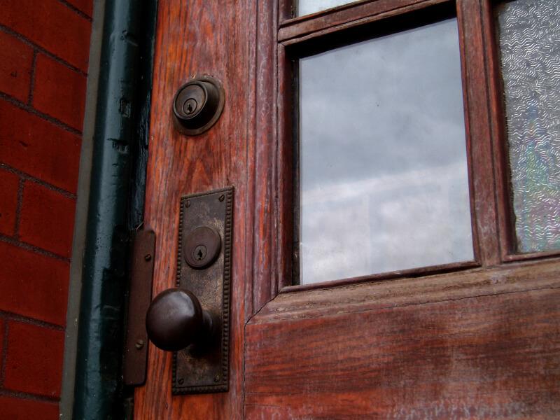 Door lock on home