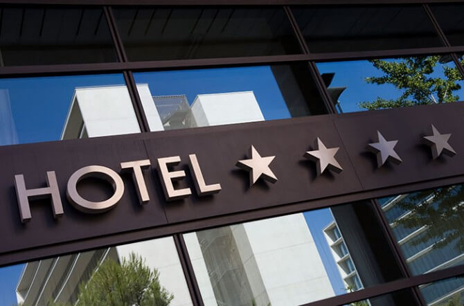 hotel with four stars