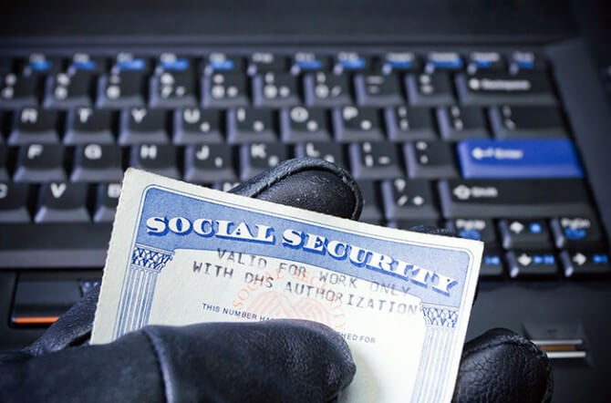 Cyber criminal using social security card