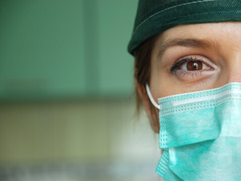woman surgeon closeup