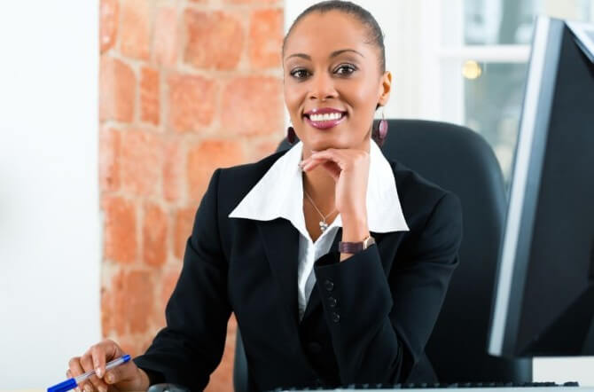Woman corporate lawyer
