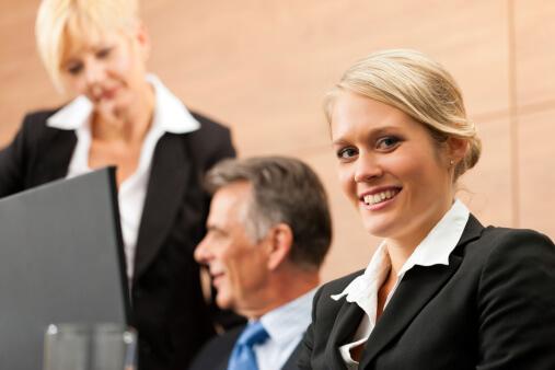Legal - team meeting in an office