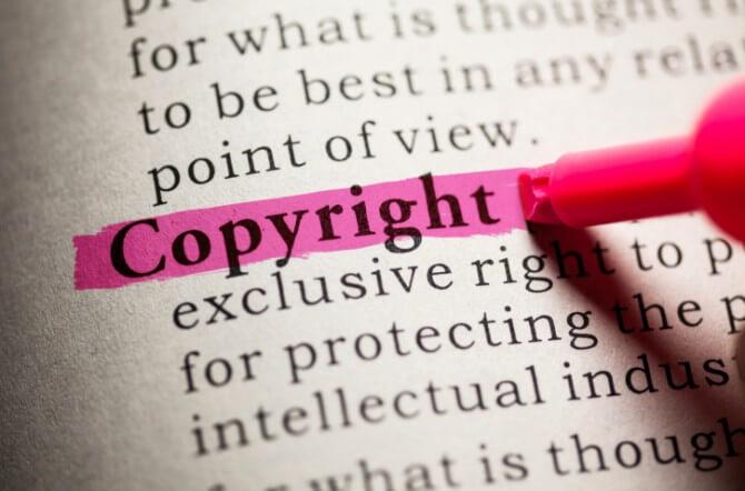 Highlighted Copyright