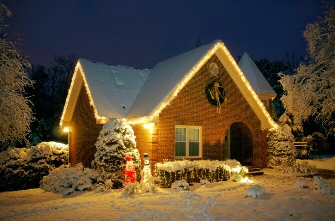 Cottage with led lights