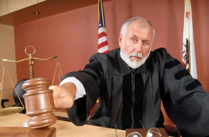 Judge using his gavel