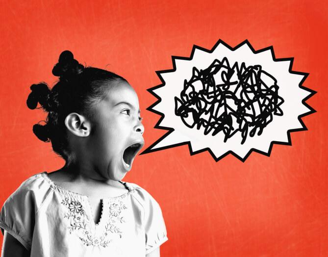 Young girl yelling