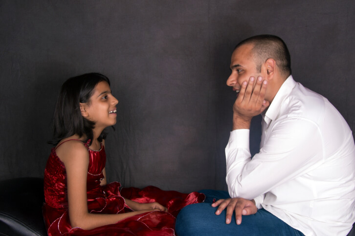 Father Talking With His Daughter