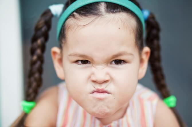 spiteful little girl