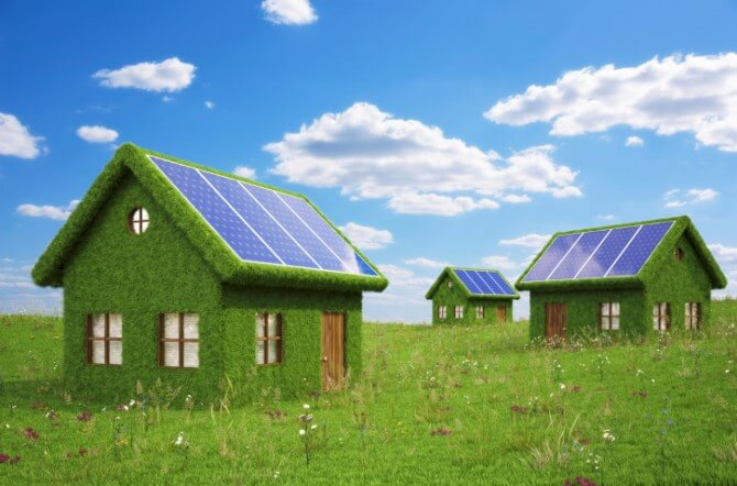 solar panels on green houses