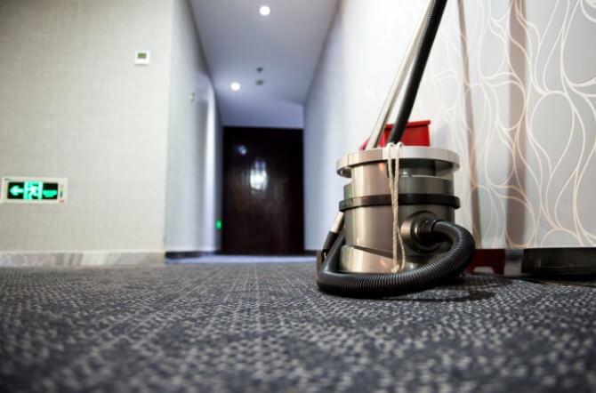 silver vacuum cleaner