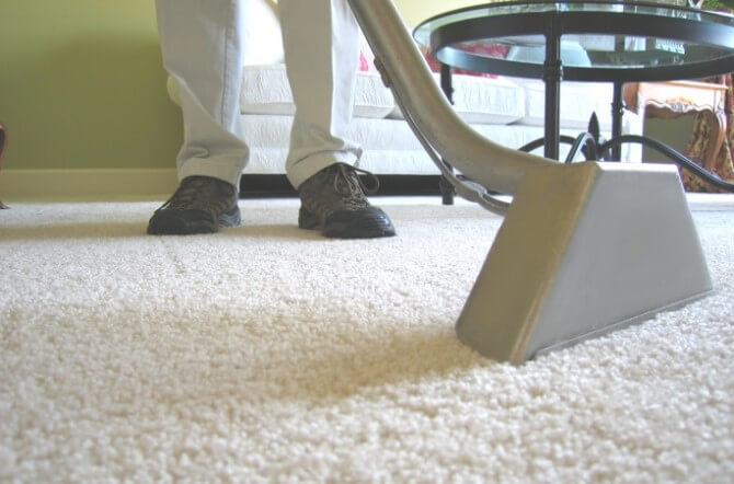 cleaning carpet black shoes
