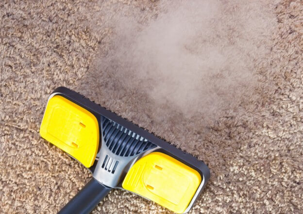yellow steam cleaner carpet