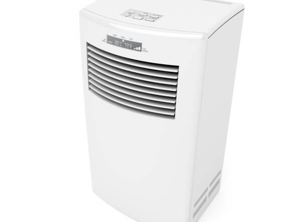 white portable ac