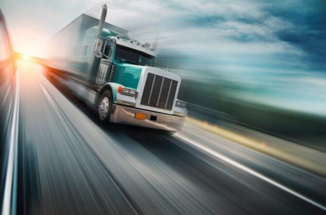 teal semi truck