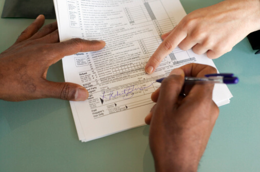 Tax Accounting Defined - Signing Tax Forms