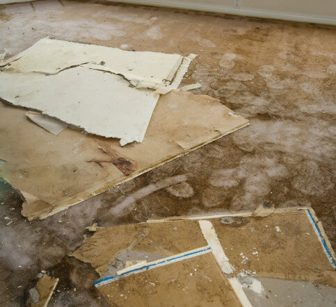 water damage after a tornado
